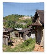 village in Madagascar Fleece Blanket