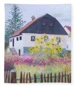 Village Of Kumrovec Croatia Fleece Blanket