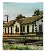 Villisca Train Depot Fleece Blanket