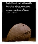Vince Lombardi On Perfection Fleece Blanket