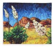 Vincent In Arizona Fleece Blanket