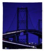 Vincent Thomas Bridge Fleece Blanket