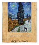 Vincent Van Gogh 4 Fleece Blanket