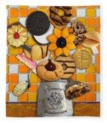 Vincent's Sunflower Cookie Jar Fleece Blanket
