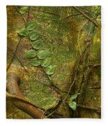 Vine On Tree Bark Fleece Blanket