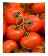 Vine Tomato Fleece Blanket