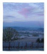 Vineyard Morning Light Fleece Blanket