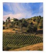 Vineyard Near Avila Beach Fleece Blanket
