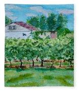 Vineyard Of Ontario 2 Fleece Blanket