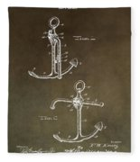 Vintage 1902 Anchor Patent Fleece Blanket