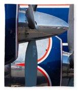 Vintage Airplane Fleece Blanket