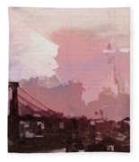 Vintage America Brooklyn 1930 Fleece Blanket