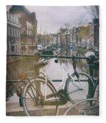 Vintage Amsterdam Fleece Blanket