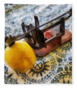 Vintage Apple Peeler Fleece Blanket
