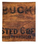 Vintage Arbuckles Roasted Coffee Sign Fleece Blanket