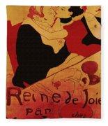 Vintage Art Poster Advertisement Entertainment Toulouse Lautrec 1892 Fleece Blanket