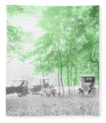 Vintage Autobmobiles Fleece Blanket