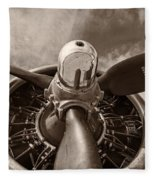 Vintage B-17 Fleece Blanket