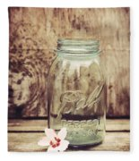 Vintage Ball Mason Jar Fleece Blanket