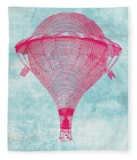 Vintage Balloon Fleece Blanket