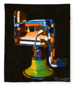 Vintage Barber Chair - 20130119 - V1 Fleece Blanket