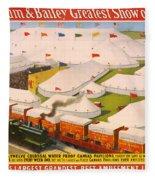 Vintage Barnum And Bailey Poster Fleece Blanket