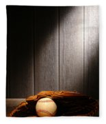 Vintage Baseball Fleece Blanket