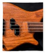 Vintage Bass Guitar Body Fleece Blanket