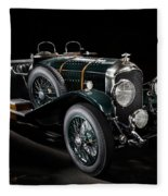 Vintage Bentley 4.5 Liter Le Mans Fleece Blanket
