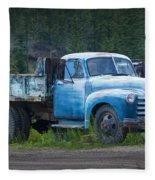 Vintage Blue Chevrolet Pickup Truck Fleece Blanket