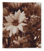 Vintage Bouquet Fleece Blanket