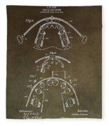 Vintage Braces Patent Fleece Blanket