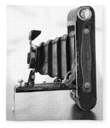Vintage Camera - Black And White Fleece Blanket