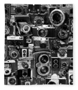 Vintage Camera Montage Fleece Blanket