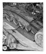 Vintage Carved Facade  Fleece Blanket