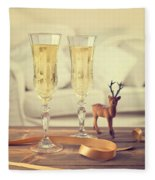 Vintage Champagne Fleece Blanket