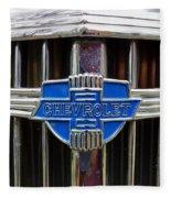Vintage Chevrolet Grille Emblem Fleece Blanket