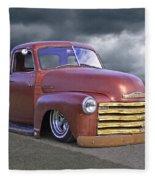 Vintage Chevy 1949 Fleece Blanket