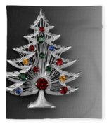 Vintage Christmas Tree Fleece Blanket