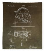 Vintage Cider Mill Patent Fleece Blanket