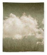 Vintage Clouds Background Fleece Blanket