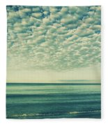 Vintage Clouds Fleece Blanket