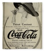 Vintage Coca Cola Ad 1911 Fleece Blanket