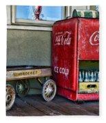 Vintage Coca-cola And Rocket Wagon Fleece Blanket