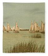 Vintage Comet Race  Fleece Blanket