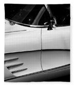 Vintage Corvette 4b Fleece Blanket