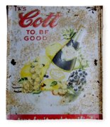 Vintage Cott Fruit Juice Sign Fleece Blanket