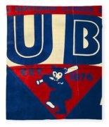 Vintage Cubs Spring Training Sign Fleece Blanket