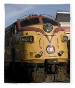 Vintage Diesel Locomotive Fleece Blanket