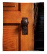 Vintage Door And Stairs Fleece Blanket